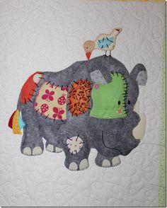 cute appliqued quilt