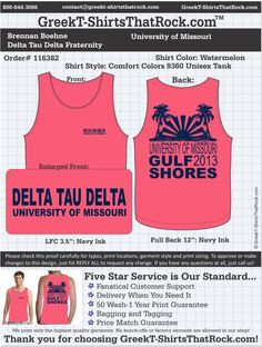 Delta Tau Delta T-Shirts That Rock 116382proof ...................................................  WORK 1 ON 1 with a member of our design team until your T-Shirt idea is perfect.... and ALWAYS get them on in time (or before you even need them) at the price you want!  ...................................................  Just click this design, it will take you to our website where you can  upload your ideas and get everything started!