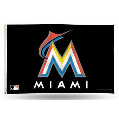 Miami Marlins MLB 3in x 5in Banner Flag