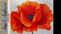 RED POPPY Acrylic Painting Georgia O'Keeffe Inspired Tutorial LIVE Begin...