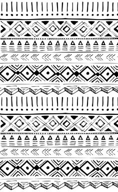 native american hand drawn pattern