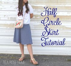 Tea Rose Home: Tutorial~ Half Circle Skirt {Skirting the Issue}