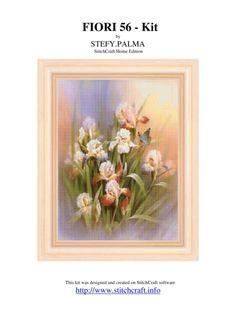 Gallery.ru / Фото #1 - FIORI_56_-_Kit - karatik Cross Stitch Flowers, Cross Stitch Patterns, Cross Stitches, Iris, Hobbies And Crafts, Home Crafts, Album, Embroidery, Floral