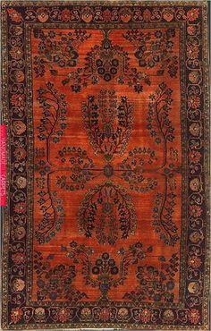 Persian Mohajeran Sarouk Rug at Emmett Eiland's Oriental Rugs Persian Carpet, Persian Rug, Persian Decor, Textiles, Eclectic Rugs, Patterned Carpet, Home Rugs, Carpet Design, Rugs In Living Room