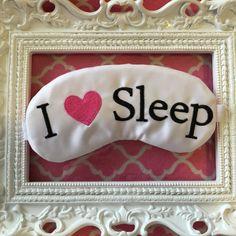 I+Heart+Sleep+Satin+Sleep+Mask+Handmade+by+TheSleepyCottage