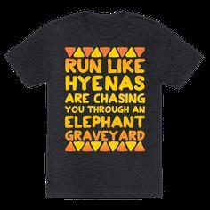 Run Like Hyenas Are Chasing You Through an Elephant Graveyard Racerback