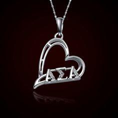 Alpha Sigma Alpha Sorority Heart Charm #Sorority #Greek #ASA #AlphaSigmaAlpha #Accessories #Jewelry