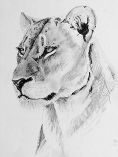 Lioness… - Tattoo-Ideen - Tattoo Designs For Women Aquarell Tattoos, Kunst Tattoos, Body Art Tattoos, Sleeve Tattoos, Tattoos Skull, Fierce Tattoo, Lioness Tattoo, Lion Tattoo Design, Lion Design