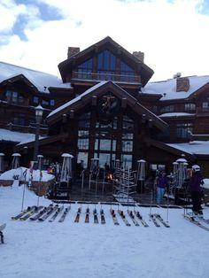 Yellowstone Club Ski Montana, Yellowstone Club, Skiing, Cabin, House Styles, Ski, Cabins, Cottage, Wooden Houses