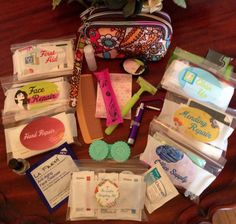 BEST She-Emergency Purse Ever!!! Choose 5 essential kits to include, plus Extras! Women's Travel Emergency Everything Purse by ThistleInTheSun, $42.99