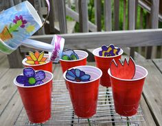 great, simple home made play things to create a pretend garden or garden center