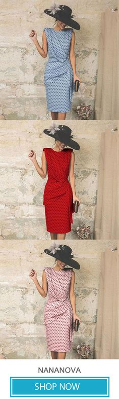 Elegant Wave Point Slim evening dress - Plus Size Dresses Trendy Dresses, Elegant Dresses, Plus Size Dresses, Vintage Dresses, Beautiful Dresses, Nice Dresses, Fashion Dresses, Ladies Dresses, Colorful Fashion