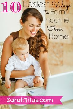 10 Easiest Ways to Earn Income From Home - Single SAHM Shares All
