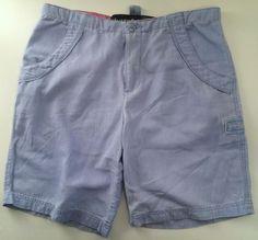 """Life is Good Womens Shorts Sz S 31"""" Waist Light Blue Light Weight Cotton Casual #LifeIsGood #BermudaWalking"""