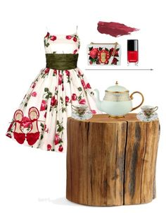 """""""Tea in  the Woods"""" by isabellarose958 on Polyvore featuring Pottery Barn, Alexandre Birman, Prouna, Dolce&Gabbana, Chanel and Lily Lolo"""