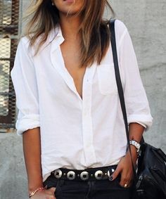 Casual Solid Color Long Sleeves Shirt Collar Loose-Fitting Shirt For Women