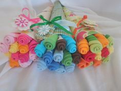 Baby washcloth bouquet