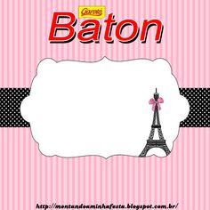 Montando minha festa: Paris preto e rosa