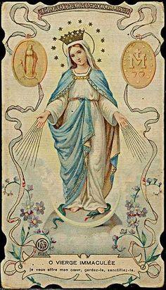 O VIERGE IMMACULEE - Holy Card