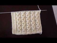 Baby Knitting Patterns, Knitting Stitches, Knitting Designs, Knitting Socks, Free Knitting, Filet Crochet, Knit Crochet, Moda Emo, Knitting Videos