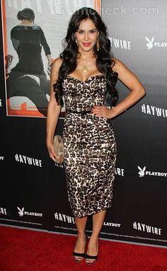 Carla Ortiz Dons Animal Print Dress