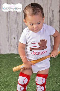 Baseball Shirt  onesie  sports shirt  applique by 5littleblessings, $21.00
