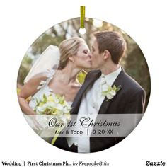 Wedding First Christmas Photo Ornament Personalised Wedding Christmas Ornaments, Wedding Ornament, First Christmas Ornament, Christmas Gifts, Christmas Ideas, Christmas Hoodie, Christmas Stuff, Christmas Sale, Holiday Gifts