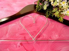 Bridal Dress Hangers Wedding Dress Hangers by OriginalBridalHanger, #WeddingDressHangers #HeartWeddingHangers, $20
