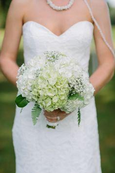 Bridal Bouquet! Hydrangeas, Baby's Breath, Fern