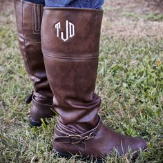 Greek Life Girl - Monogrammed Riding Boots , $60.00 (http://www.greeklifegirl.com/monogrammed-riding-boots/)