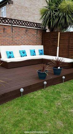 DIY Deck Furniture Pallets Wood