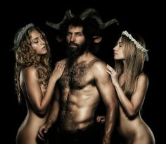 Greek God Pan with nymphs . In greek mythology God Pan is ...