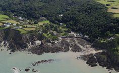 Lee Bay in North Devon - aerial image   by John D F #devon #aerial #leebay