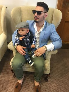Dad and son  Men style