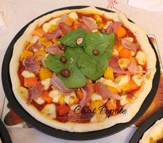 Pizza potiron, scamorza fumée et jambon de Parme
