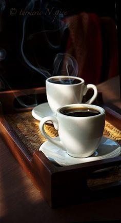 quenalbertini: Morning Coffee for Two Coffee Cafe, Coffee Humor, Coffee Drinks, Coffee Shop, Coffee Mugs, I Love Coffee, Hot Coffee, Black Coffee, Cocoa