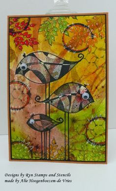 Alie Hoogenboezem-de Vries: Leaves or birds :-) ~ Designs by Ryn stamps