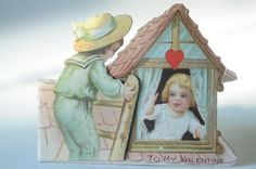 Vintage 1910s-1920s Valentine Card Made Germany, Valentine. $4.00, via Etsy.