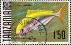Tanzania 1967 Fish Fine Used SG 153 Scott 30 Other Tanzania and British Commonwealth Stamps HERE!