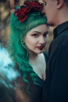 (4) Tumblr Blue Green Hair, Purple Hair, Dye My Hair, Your Hair, Gothic Looks, Blue Highlights, Clip In Extensions, Wild Hair, Crazy Hair