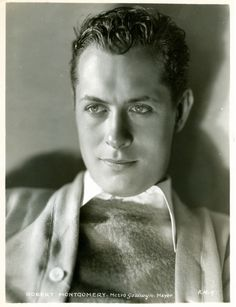 Robert Montgomery - actor who appeared in many films in the 30's and 40's. He is the father of actress Elizabeth Montgomery. He died on Sept 27, 1981 from cancer at the age of 77