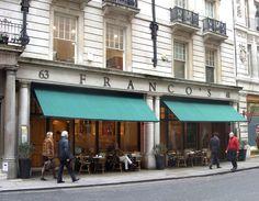 Franco's restaurant  61, Jermyn Street, London.