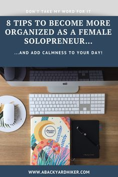 Yes, you can say that I'm an organized female solopreneur and I love being one! For the simple fact that it just makes my life so much easier and it reduces my stress level a lot. Not only that, but it also saves me time, money and if I have to believe the Chinese discipline Feng Shui, a well-organized life will bring me good fortune 😀 Reasons enough to get started yourself! Me Time, No Time For Me, Clean Desk, Organization Skills, You Are Home, Passion Planner, Small Notebook, Good Fortune, Write It Down