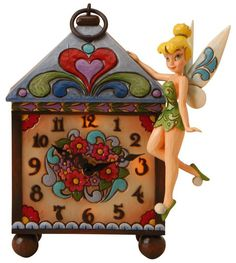 Disney Traditions designed by Jim Shore for Enesco Tinker Bell Clock 9 IN >>> To view further for this item, visit the image link. Tinkerbell And Friends, Peter Pan And Tinkerbell, Peter Pan Disney, Disney Fairies, Tinkerbell Fairies, Disney Home, Disney Art, Disney Magic, Disney Clocks