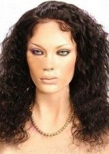 Amazing Black Deep Wave Layered Remy Hair Lace Front Wig