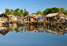 Village on water. The Philippines