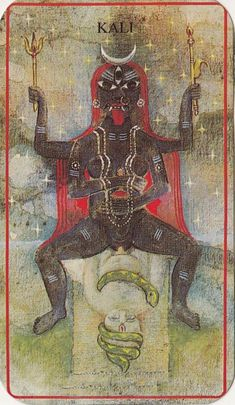 Kālī : lord of death, Goddess of time and change, black night, redeemer of the universe, Mother, consort of Lord Shiva, the fierce aspect of Durga (Parvati).