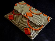 Orange Navy African Print Cotton Over size by BeaullahsBoutique, £15.00