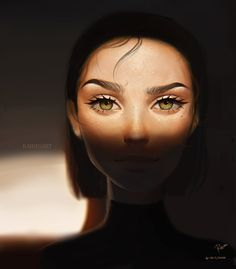 Digital Art Girl, Digital Portrait, Portrait Art, Cartoon Girl Images, Girl Cartoon, Cartoon Art, Illustration Girl, Anime Scenery, Anime Art Girl