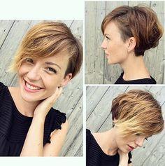 Resultado de imagen de asymmetrical pixie haircut